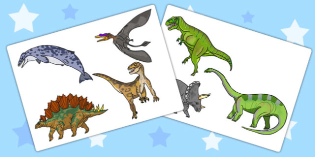Realistic Dinosaurs Cut-Outs - dinosaur, cut outs, cut-outs