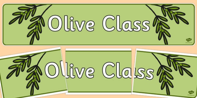 Olive Class Display Banner - olive, class, display banner, display