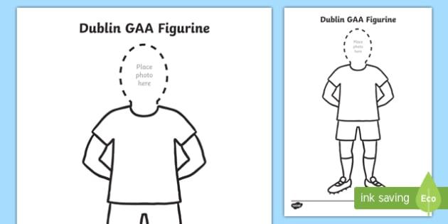 Dublin GAA Footballers Cut Out Gear Cut-Outs-Irish