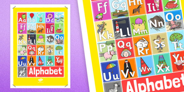 A4 Alphabet Display Poster - a4, alphabet, display poster, display