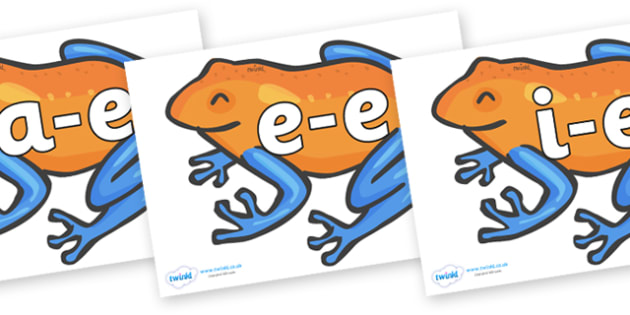 Modifying E Letters on Tree Frogs - Modifying E, letters, modify, Phase 5, Phase five, alternative spellings for phonemes, DfES letters and Sounds
