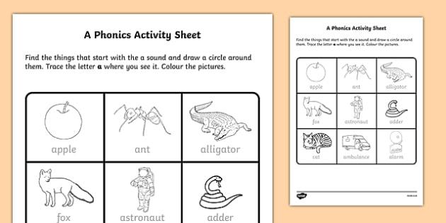 a Phonics Activity Sheet-Irish, worksheet