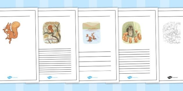 The Tale of Squirrel Nutkin Writing Frames - squirrel nutkin, writing frames