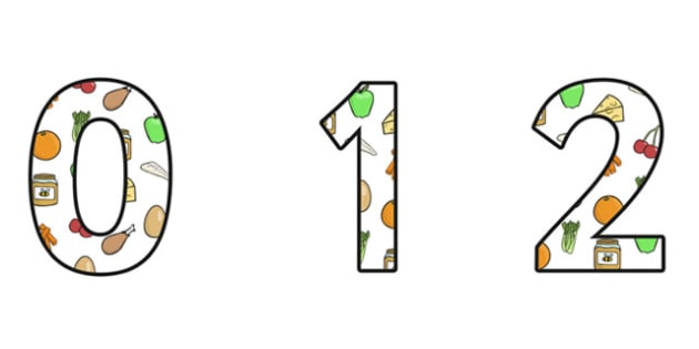 Healthy Eating Display Numbers - healthy eating, healthy eating themed numbers, healthy eating numbers, healthy eating display, healthy food, health, ks2