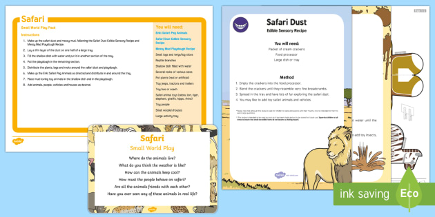 Safari Small World Play Idea and Printable Resource Pack - Safari, animals, wild, jungle, small world, role play