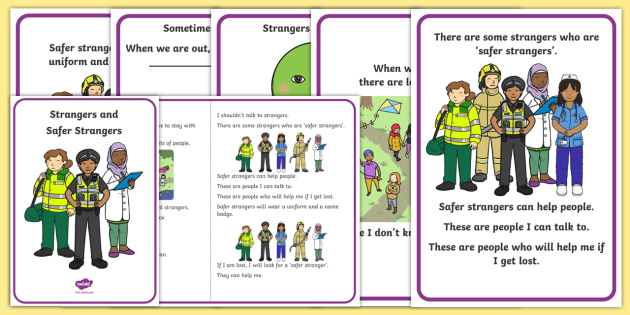 Strangers and Safer Strangers Social Situation - social stories, stranger danger, safe strangers, trusted adults, wandering, safety, autism, ASD, ASC