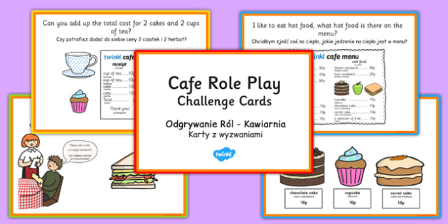 Challenge Cards Cafe Role Play Polish Translation - polish, challenge cards, caf