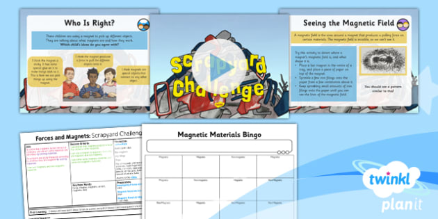 Science: Forces and Magnets: Scrapyard Challenge Year 3 Lesson Pack 3