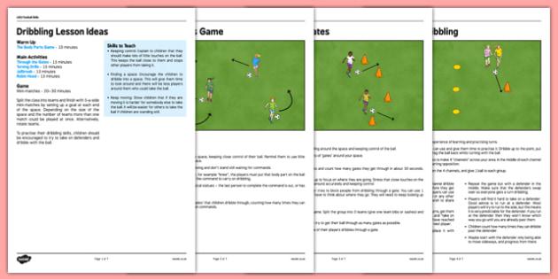 LKS2 Football Skills 1: Dribbling Lesson Pack - football, PE, sport, exercise, KS2, LKS2, Key Stage 2,  year 3, year 4, skills, physical education, ball skills, team sports