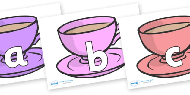 Phoneme Set on Cups - Phoneme set, phonemes, phoneme, Letters and Sounds, DfES, display, Phase 1, Phase 2, Phase 3, Phase 5, Foundation, Literacy