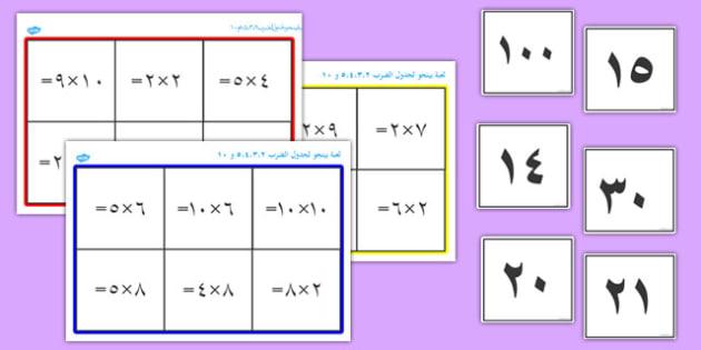 لعبة بينجو لعملة ضرب الأعداد - الأعداد، عملية الضرب، حساب