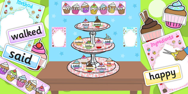 Writing Is a Piece of Cake Display Pack - ready made, display