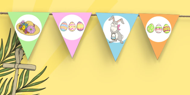 Easter Fair Themed Bunting - easter fair, easter fayre, fair, fayre, easter, bunting