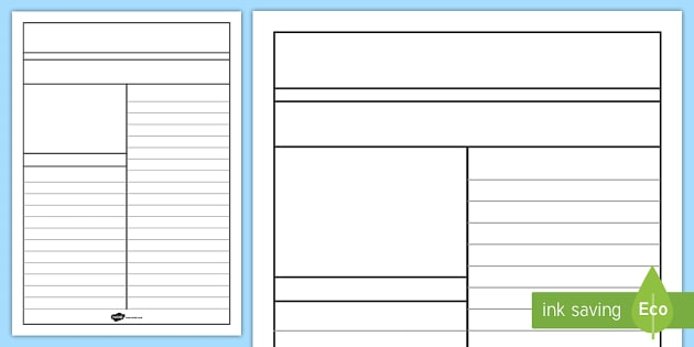 Newspaper Writing Template - Writing Aid, Writing Template