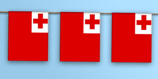 Tonga Flag Bunting - nation, international, geography, culture, display, oceana, australiasia, olympics
