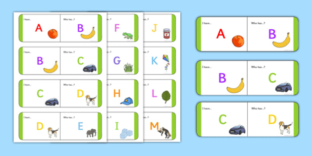 Alphabet Loop Cards - alphabet loop cards, loop, cards, alphabet