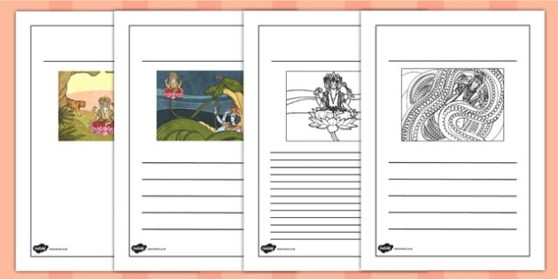 Hindu Creation Writing Frames - hinduism, religion, writing aid