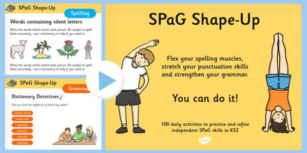 SPaG Shape Up PowerPoint - spag, shape up, powerpoint, spelling