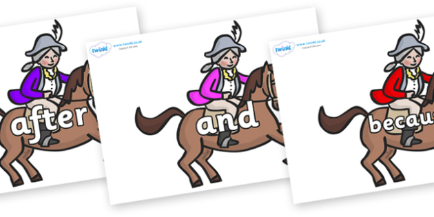 Connectives on King's Horses - Connectives, VCOP, connective resources, connectives display words, connective displays