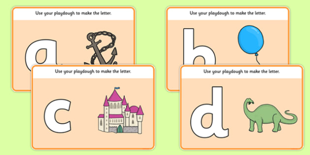 A to Z Alphabet Playdough Mat - letters, alphabet, writing, playdough, malleable, play, dough, make, create