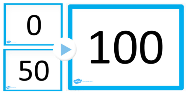 0 100 Counting Maths PowerPoint - count, counting aid, numeracy