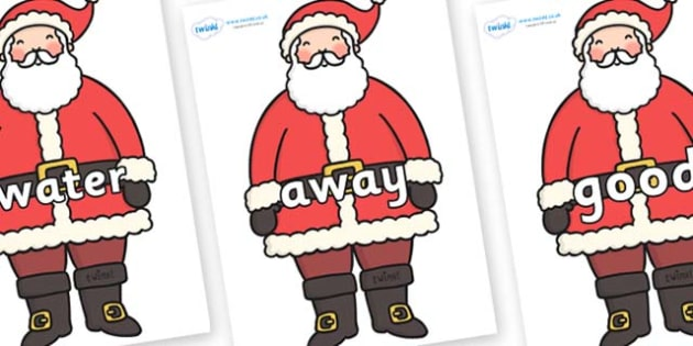 Next 200 Common Words on Santa - Next 200 Common Words on  - DfES Letters and Sounds, Letters and Sounds, Letters and sounds words, Common words, 200 common words