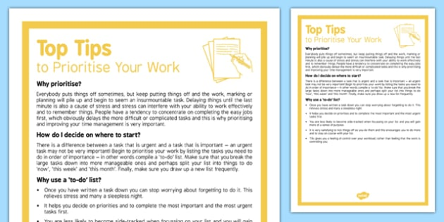 How to Prioritise Your Work - prioritise, word, how to, how