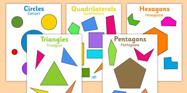 2D Regular and Irregular Shape Posters Romanian Translation - romanian, 2d, regular, irregular, shape