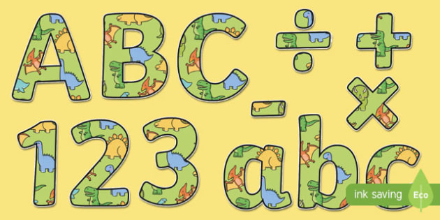 Cute Dinosaur Themed Display Lettering - dinosaur, lettering