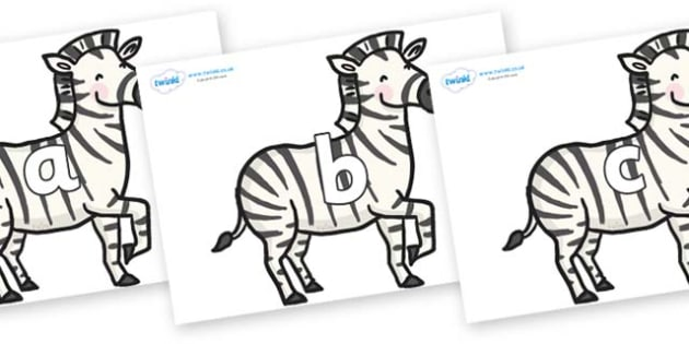 Phase 2 Phonemes on Zebras - Phonemes, phoneme, Phase 2, Phase two, Foundation, Literacy, Letters and Sounds, DfES, display