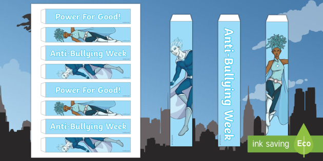 Anti-Bullying Week Superhero 'Power for Good' Paper Chains Activity