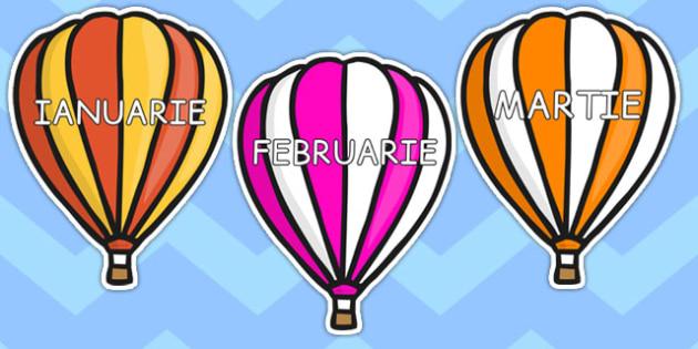 Lunile anului pe baloane - Planșe