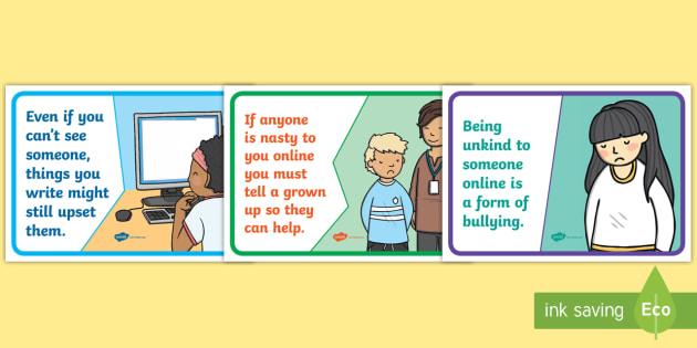 Being Kind Online Display Posters - Kind, Internet, Online