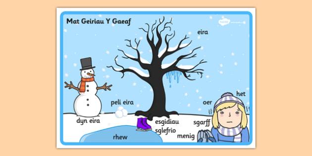 Mat Geiriau Golygfa 'Y Gaeaf' - winter, scene, welsh