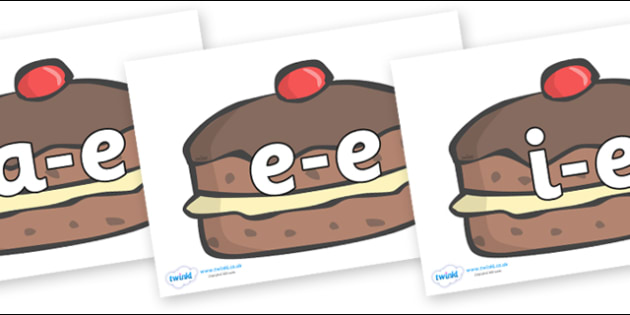 Modifying E Letters on Chocolate Buns - Modifying E, letters, modify, Phase 5, Phase five, alternative spellings for phonemes, DfES letters and Sounds
