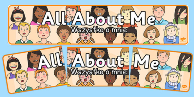 All About Me Banner Polish Translation - polish, all about me, banner, display