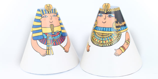 Egyptian Cone People - australia, egyptian, cone, people, craft