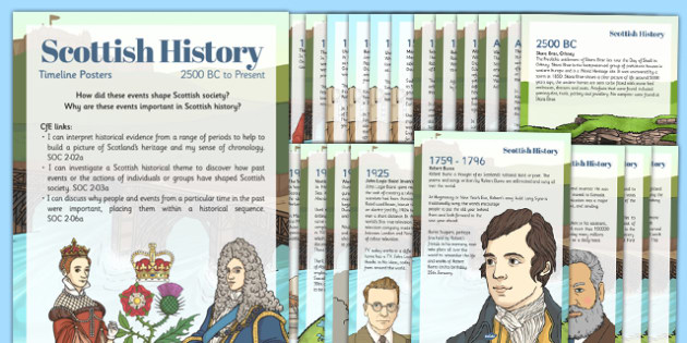 Scottish History and Impact of Events Timeline Display Posters - scottish, history, impact, events, timeline