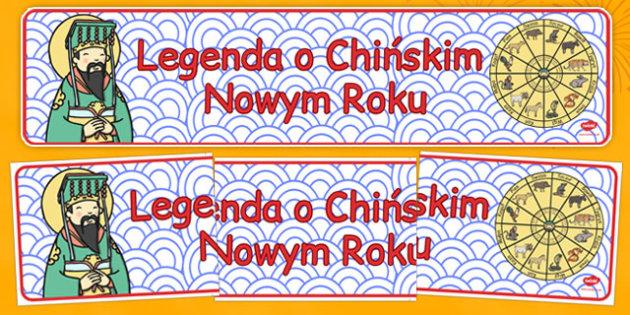 Banner Legenda Chińskiego Nowego Roku po polsku - zima