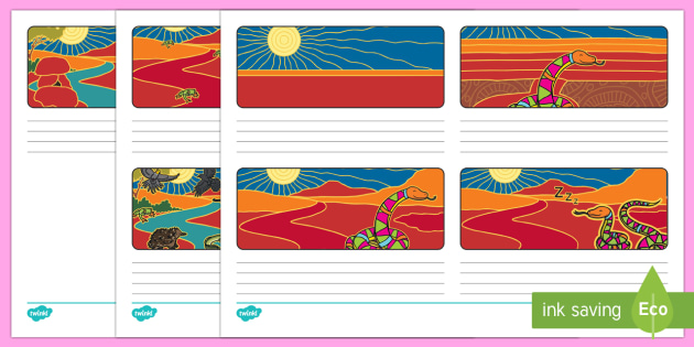 The Rainbow Serpent Storyboard Template