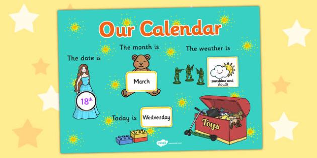 Toy Themed Display Calendar - toy, themed, calendar, display
