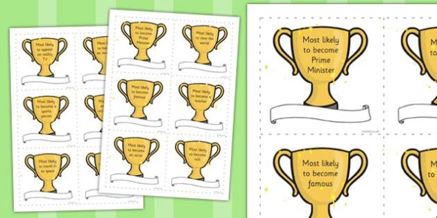 Leavers Awards - transition, leaving school, leaving, rewards