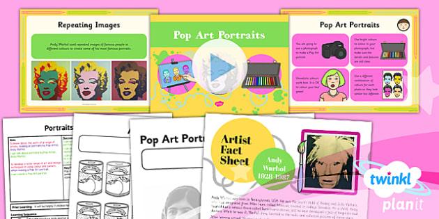 Art: Portraits: Pop Art Portraits KS1 Lesson Pack 6