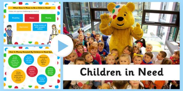 Children in Need Presentation - children in need, powerpoint, charity, children, need
