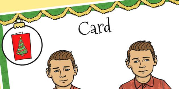 A4 British Sign Language Sign for Card Left Handed - card, left