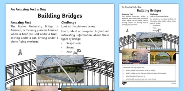 Building Bridges Activity Sheet, worksheet