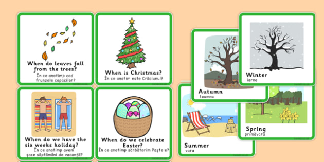 When Season Matching Game Romanian Translation - romanian, when, season, matching, game
