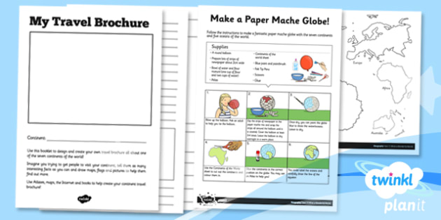 Geography: What a Wonderful World KS1 Unit Home Learning Tasks