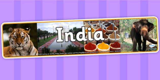 India Photo Display Banner - India, Display Banner, Indian Display Banner, Indian Banner, Display, Indian Display, Themed Banner, Photo Banner