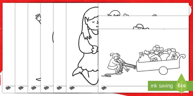 Hojas de colorear: El elfo de Navidad - elfo, navidad, navideño, colorear - elfo, navidad, navideño, colorear